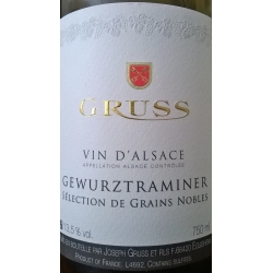 Gewurztraminer Selection Grains- Nobles Domaine Gruss 2007