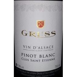 Pinot Blanc Clos Saint Etienne Domaine Gruss 2015
