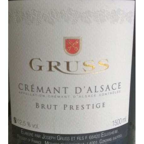 Crémant D'Alsace Dom. Gruss Brut Prestige MAGNUM