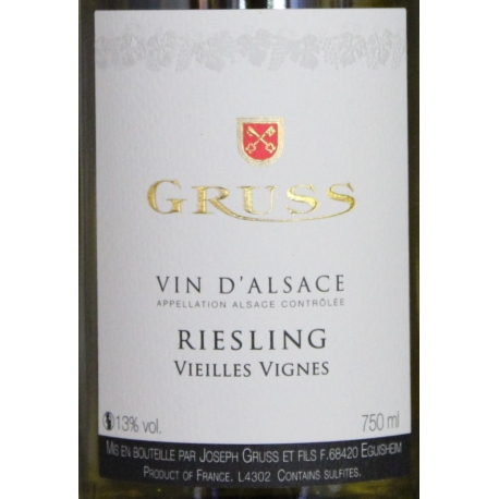 Riesling Vieilles Vignes Domaine Gruss 2014