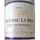 Château La Brie Montbazillac wit/blanc 2014 BIO