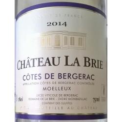 Château La Brie Monbazillac wit/blanc 2014 BIO