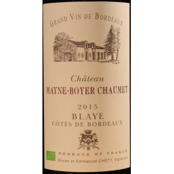 Cotes de Blay Chateaux Mayne-Boyer Chaumet 2015