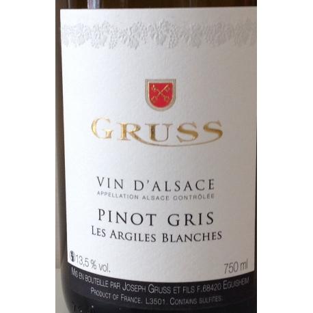 "Pinot-Gris ""Les Argiles Blanches"" Dom. Gruss 2017"