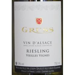 Riesling Vieilles Vignes Domaine Gruss 2017