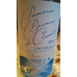 Premieres Brumes De Closiot Sauternes 2016