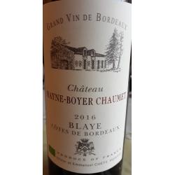 Château Mayne Boyer Chaumet Premieres Cotes Blaye 2016